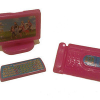 3 pc. set-Barbie Computer w/keyboard and Telephone Accessory