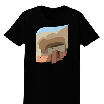 Montezuma Castle Artwork Womens Dark T-Shirt