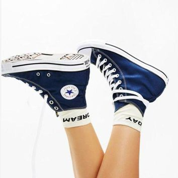 CREYUG7 Converse All Star Sneakers Adult Leisure High-Top Leisure shoes Navy blue