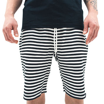 Fresh Goods Printed Shorts In Striped White