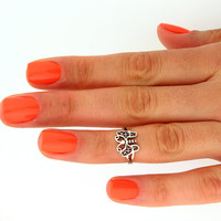Sterling silver above knuckle ring stack midi by Silversmith925