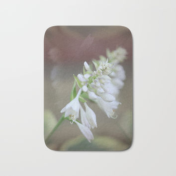 Foxglove Penstemon Bath Mat by Theresa Campbell D'August Art