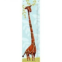 Gillespie Giraffe Boys Growth Chart in Blue by Oopsy Daisy