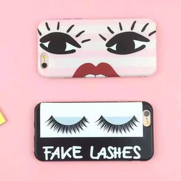 Charming big eyes phone case for iPhone 6 6S 6plus 6Splus 1008J01