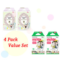 Instax Film 2 Double Package Value Set Fujifilm Instax Mini Film White Plus Macaroon Polaroid Instant Photos 40 Shots