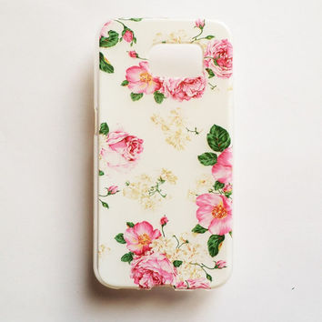 Samsung Galaxy S6 Flower Blossom Case Soft Plastic Galaxy S6 Back Floral Samsung S6 Cover
