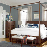 Silhouette King Four Poster Canopy Bed by Universal