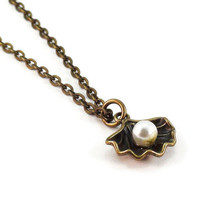 Bronze Shell Necklace, Nautical Jewelry