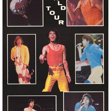 Rolling Stones Mick Jagger 1981 Tour Poster 23x34