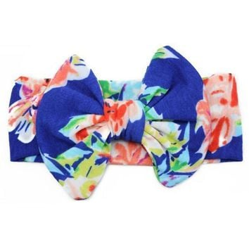 Top Knot Headband - Royal Floral