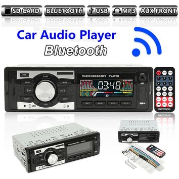 12V Car Radio Auto Audio Stereo Support FM SD MP3 Player AUX-IN USB with Remote Control for Vehicle Audio Radio