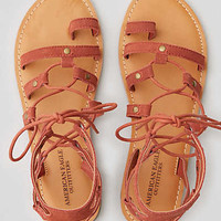 AEO Suede Toe Ring Sandal , Brick Red