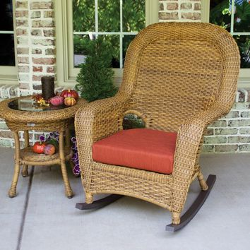2pc Resin Wicker Rocking Chair Bundle by Tortuga Outdoors