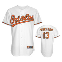 Manny Machado Orioles White Home Replica Jersey