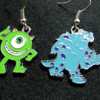 Handcrafted 'Mike & Sulley' Monsters Inc./Monsters University earrings