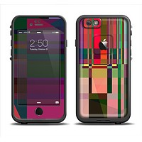 The Various Colorful Intersecting Shapes Skin Set for the Apple iPhone 6 LifeProof Fre Case