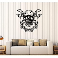 Vinyl Wall Decal Skull Chain Auto Car Repair Service Garage Stickers Unique Gift (270ig)