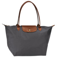 Large tote bag - LE PLIAGE - Handbags - Longchamp - Gun metal - Longchamp United-States