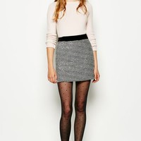 STONETON METALLIC TWEED SKIRT