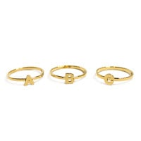 Alphabet Rings-Size 6