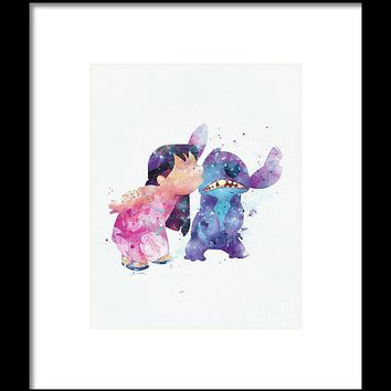 Lilo And Stitch Framed Print