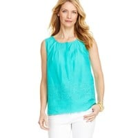 Anguilla Fish Eyelet Top