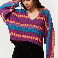 UO Teagan Distressed Cropped Sweater | Urban Outfitters