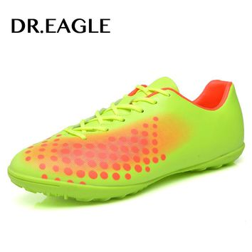 DR.EAGLE Professional soccer shoes Kids' Indoor futsal football boots, TF Turf Racing Soccer Shoe Training child football shoes