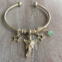 Fairy Bangle, Bohemian Bracelet, European Bracelet, Boho Chic, Fairy Bracelet, Bangle Bracelet, Mystical Charms, European Charm Bracelet