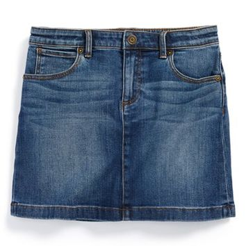 Girl's Burberry 'Sarah' Denim Skirt