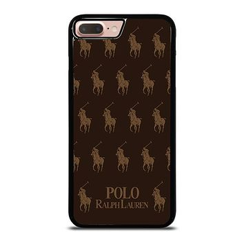 POLO RALPH LAUREN COLLAGE BROWN iPhone 8 Plus Case Cover