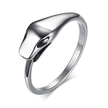 Snake Ring for Men and Women Vintage Stainless Steel Ring Self-devourer Male Church Prayer Jewelry Ouroboros Ring