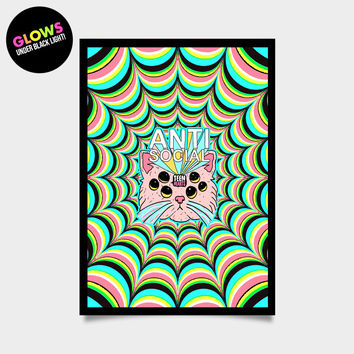 TRIPPY KITTY - BLACK LIGHT POSTER 17 x 24