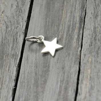 Sterling Star Charm, Sterling Silver Star , Silver Star Charm, Jewelry Supplies, Sterling Charms, Sterling Silver Charms, Necklace Charms