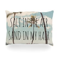 "Nastasia Cook ""Salt in the Air"" Beach Trees Oblong Pillow"