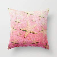 Sea of Stars Throw Pillow by Lisa Argyropoulos