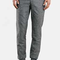 Men's Topman Slub Jogger Pants,