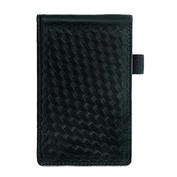 Hero's Pride Leather Notepad Case, Basket Weave, Notepad Included