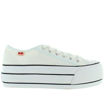 Coolway Grease - White High Platform Lace Sneaker