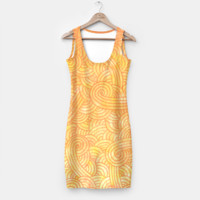 Yellow and orange zentangles Simple Dress, Live Heroes