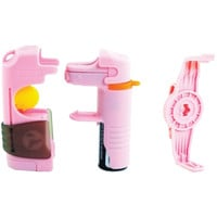 Tornado 5-in-1 Pepper Spray System With Uv Dye (pink)