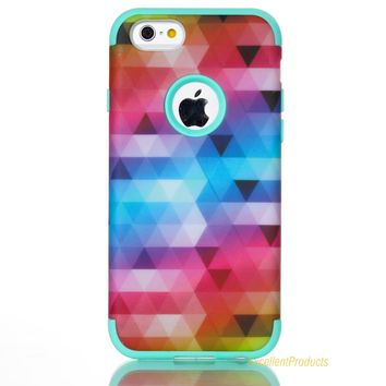For Coque Apple iphone 6 Case Silicone Plastic Hybrid Armor Case For Apple iphone 6 Case Shockproof 3 in 1 Back Cover