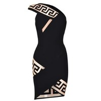 X Anthony Vaccarello Greca Graphic Band Mini Dress