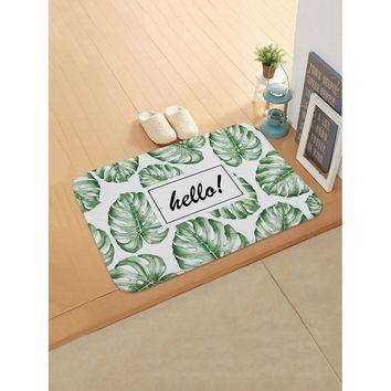 Tropical Overlay Print Door Mat