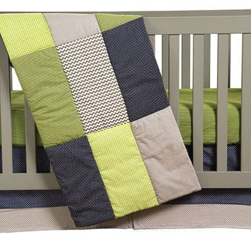 Trend-Lab Kids Toddler Infant Child Newborn Perfectly Preppy - 3 Piece Crib Bedding Set