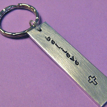 Believe keychain: Hand Stamped just for you