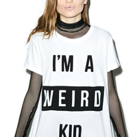 Mink Pink The Weird One Tee White