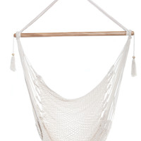 Mission Hammocks Hanging Hammock Chair Organic Cotton - Bright White