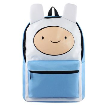 Adventure Time Finn and Jake School Backpack for Children Teenagers Men Women Bag Mochila Laptop Knapsack Bags
