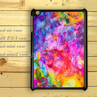 Watercolor hot pink ,ipad air case,ipad 2 case,ipad 3 case,ipad 4 case,ipad mini case,gift case